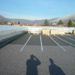 Dach komplett mit Bautenschutzmatte belegt